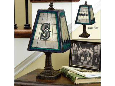 Seattle Mariners Art Glass Table Lamp