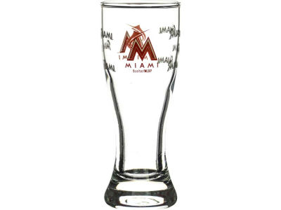 Miami Marlins Satin Etch Mini Pilsner