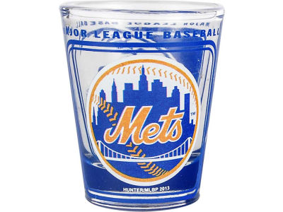 New York Mets 3D Wrap Color Collector Glass