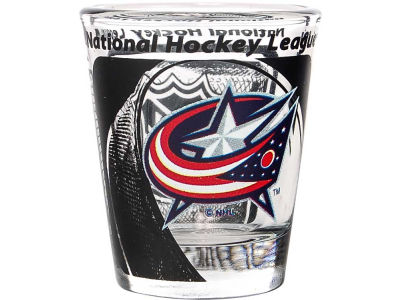 Columbus Blue Jackets 3D Wrap Color Collector Glass