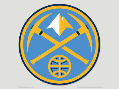 Denver Nuggets Die Cut Color Decal 8in X 8in