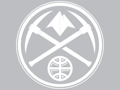 "Denver Nuggets Die Cut Decal 8""x8"""