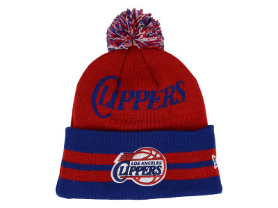 Los Angeles Clippers New Era NBA Hardwood Classics Wide Point Pom Knit