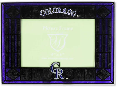 Colorado Rockies Art Glass Picture Frame