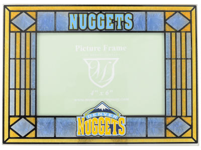Denver Nuggets Art Glass Picture Frame
