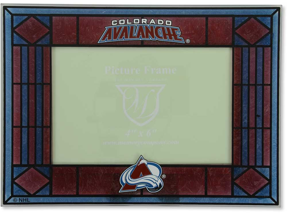 Colorado Avalanche Art Glass Picture Frame   lids.com