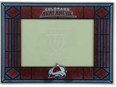Colorado Avalanche Art Glass Picture Frame