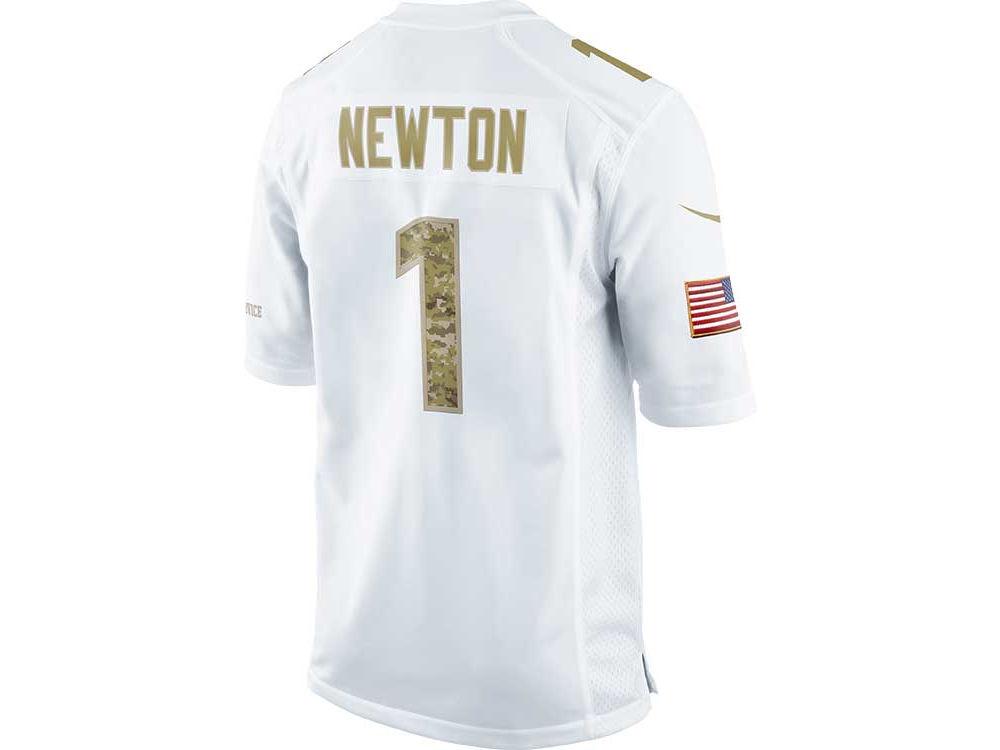 Carolina Panthers Cam Newton Nike NFL Salute To Service Jersey ... 1b530078f