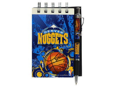 Denver Nuggets 3x5 Flip Spiral Notebook Pen Set