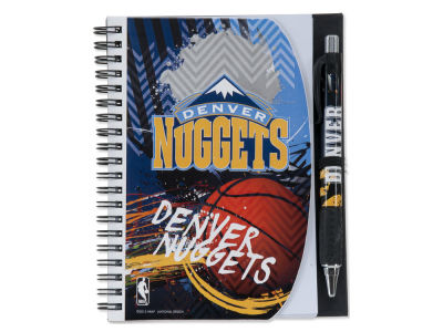 Denver Nuggets 5x7 Spiral Notebook And Pen Set