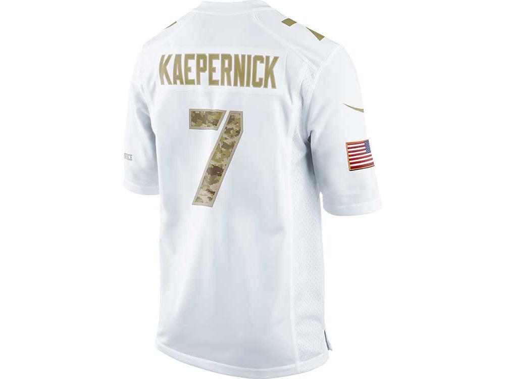 1f9e59edc San Francisco 49ers Colin Kaepernick Nike NFL Salute To Service Jersey