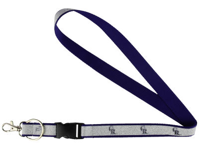 Colorado Rockies Sparkle Lanyard-Aminco