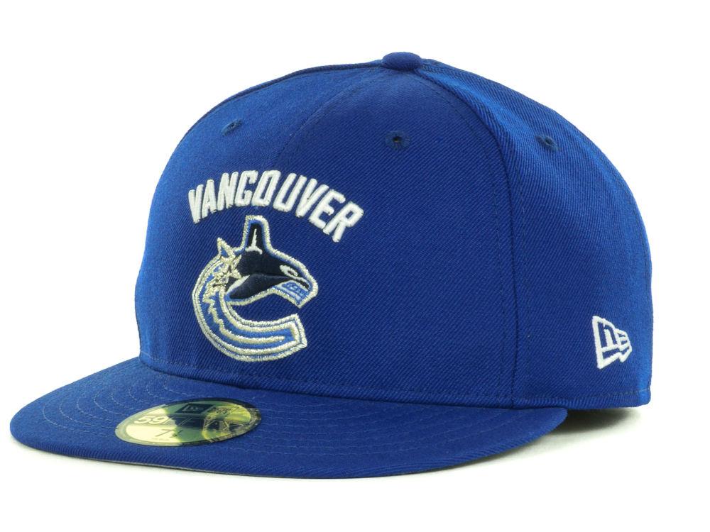 Vancouver Canucks New Era NHL Basic 59FIFTY Cap  e25b61846
