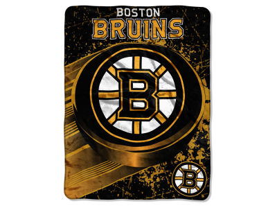 "Boston Bruins Micro Raschel 46x60 ""Ice Dash"""