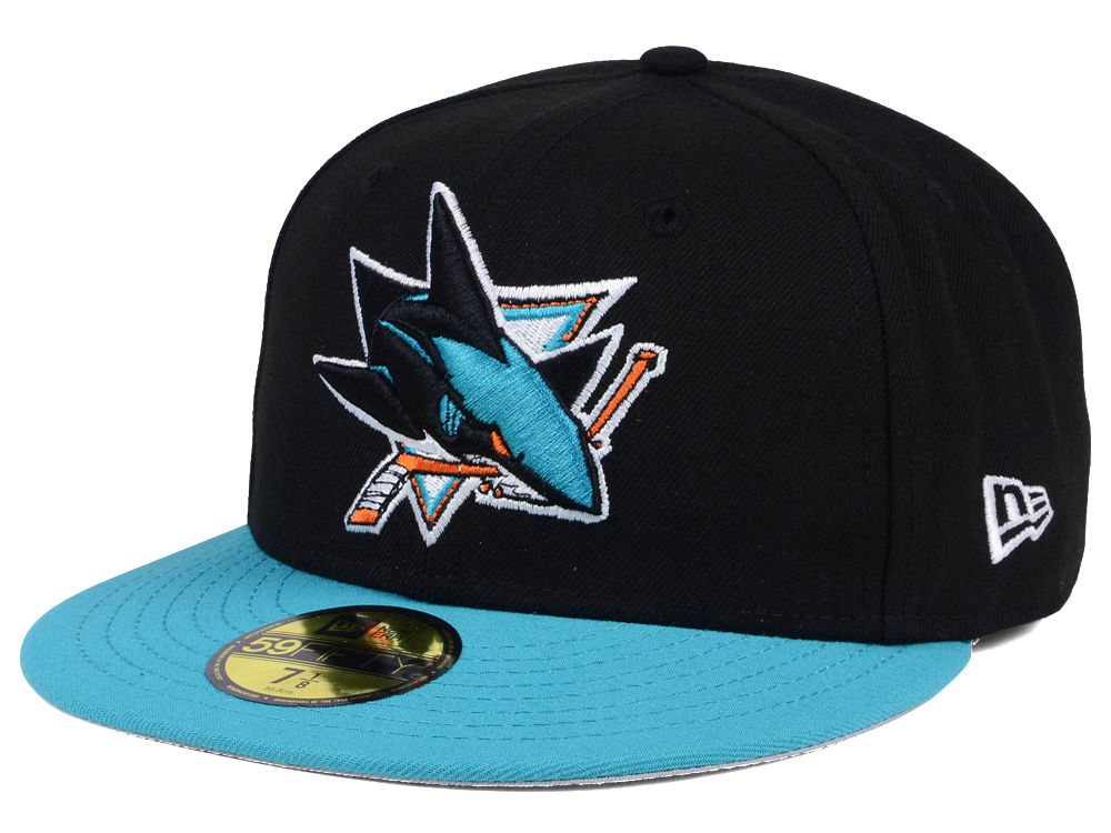 San Jose Sharks New Era NHL Basic 59FIFTY Cap  ffa1bb29e58f