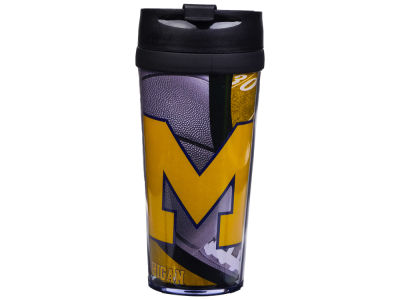 Michigan Wolverines 16oz Travel Tumbler
