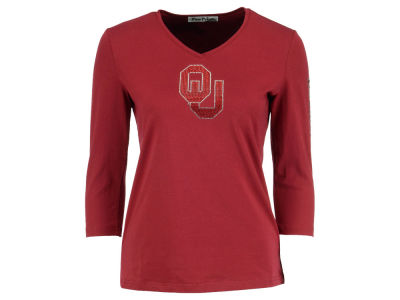Oklahoma Sooners NCAA Women's Boomer Sooner 3/4 Sleeve Shirt