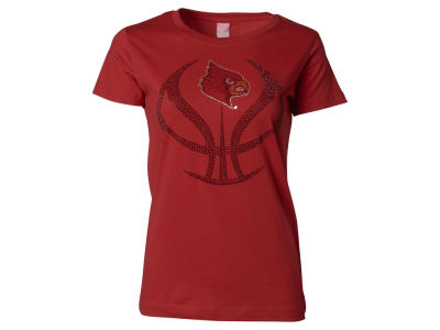 Louisville Cardinals NCAA Basketball Bling and Glitter T-Shirt
