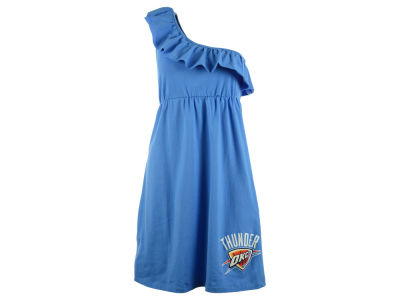 Oklahoma City Thunder NCAA Youth Girls Shoulder Ruffle Dress