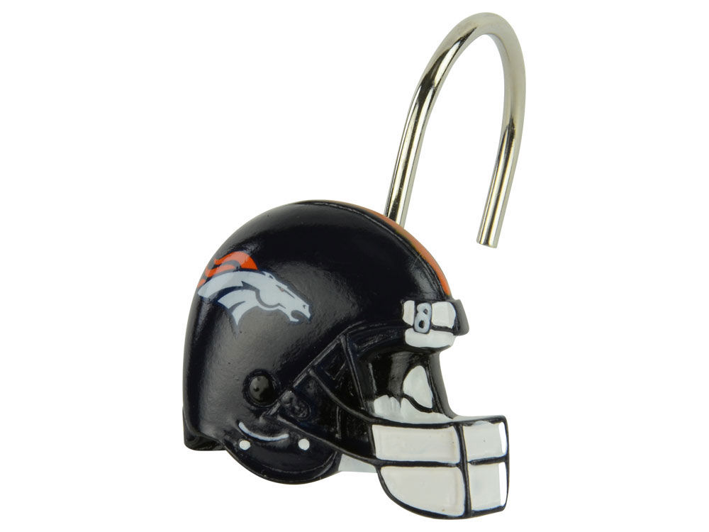 Denver Broncos Shower Curtain Rings