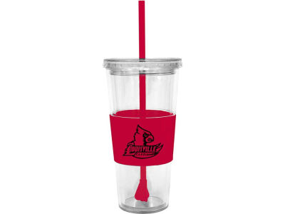 Louisville Cardinals 22oz. Tumbler with Straw