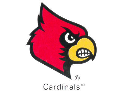 Louisville Cardinals Waterless Game Face Tattoo