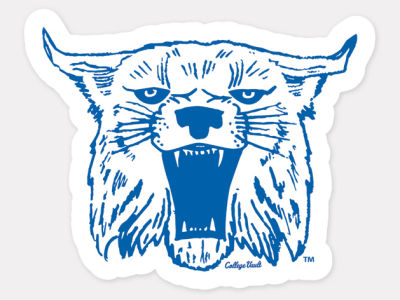 Kentucky Wildcats 4x4 Die Cut Decal Color