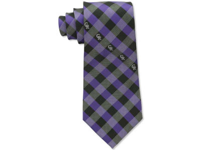Colorado Rockies Polyester Checked Tie