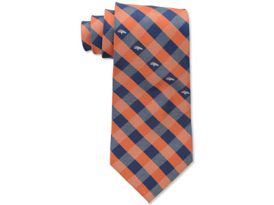 Denver Broncos Polyester Checked Tie
