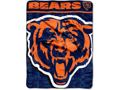 "Chicago Bears Micro Raschel Throw 46x60 ""Living Large"""