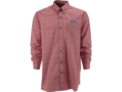 Ole Miss Rebels NCAA Men's Completion Plaid Button Up Shirt