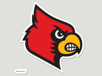 Louisville Cardinals Die Cut Color Decal 8in X 8in