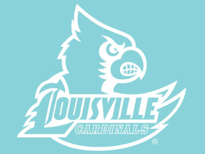"Louisville Cardinals Die Cut Decal 8""x8"""