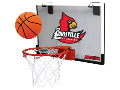Louisville Cardinals Game On Polycarb Hoop Set