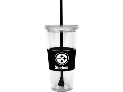 Pittsburgh Steelers 22oz. Tumbler with Straw