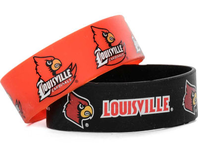 Louisville Cardinals 2-pack Wide Bracelet