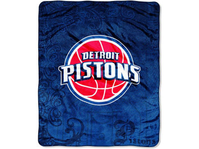 "Detroit Pistons Micro Raschel Throw 46x60 ""Street Edge"""