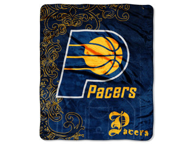 "Indiana Pacers Micro Raschel Throw 46x60 ""Street Edge"""