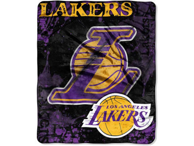 Los Angeles Lakers 50x60in Plush Throw Drop Down