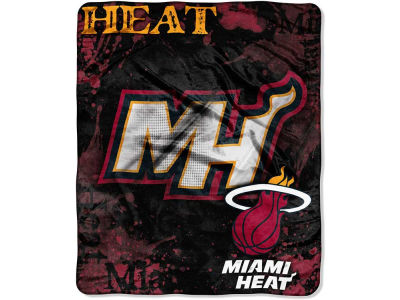 Miami Heat 50x60in Plush Throw Drop Down