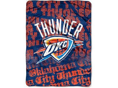 "Oklahoma City Thunder Micro Raschel Throw 46x60 ""Redux"""