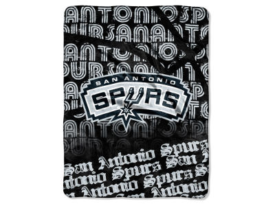 "San Antonio Spurs Micro Raschel Throw 46x60 ""Redux"""