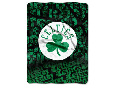 "Boston Celtics Micro Raschel Throw 46x60 ""Redux"""