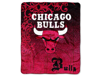 "Chicago Bulls Micro Raschel Throw 46x60 ""Street Edge"""