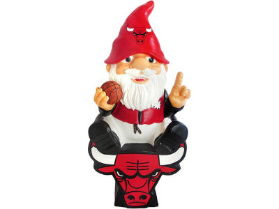 Chicago Bulls Gnome Sitting on Logo