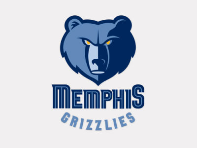 Memphis Grizzlies 4x4 Die Cut Decal Color