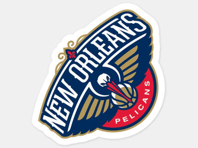 New Orleans Pelicans 4x4 Die Cut Decal Color