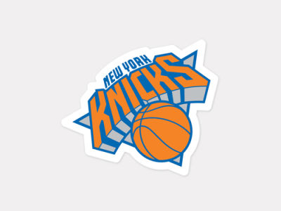New York Knicks 4x4 Die Cut Decal Color