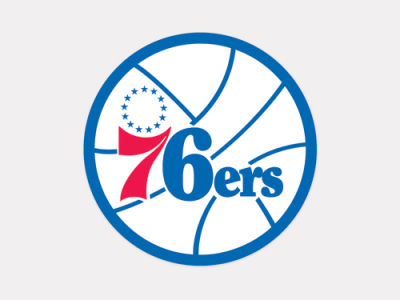 Philadelphia 76ers 4x4 Die Cut Decal Color