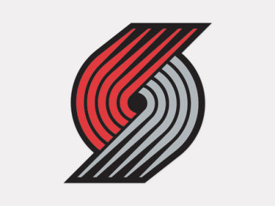 Portland Trail Blazers 4x4 Die Cut Decal Color